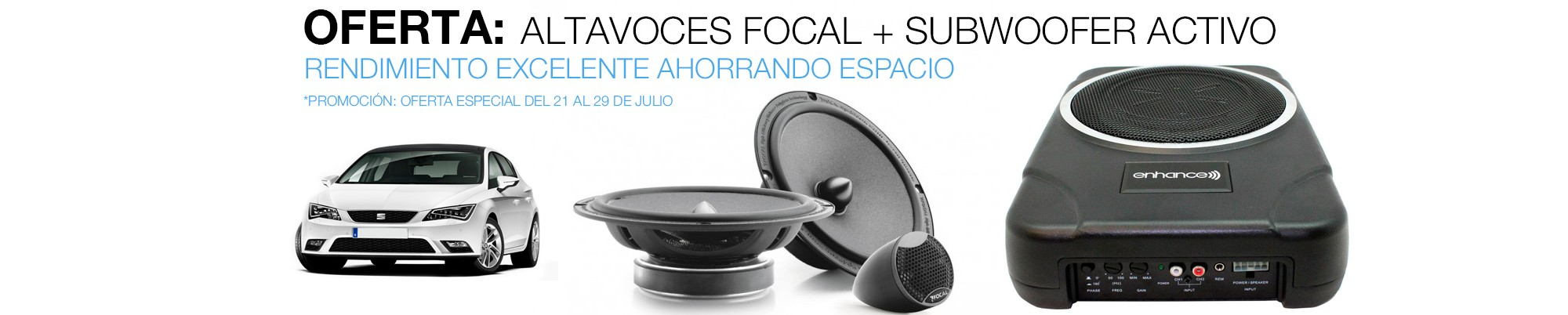 Pack altavoces Focal y subwoofer activo