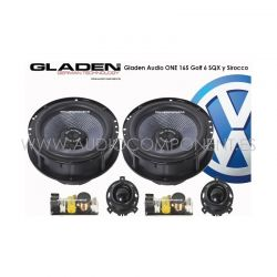 Gladen Audio ONE 165 Golf 6 SQX y Sirocco