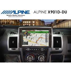 Alpine X901D-DU - Navegación Fiat Ducato 3, Citroen Jumper 2 y Peugeot Boxer 2
