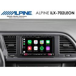 Alpine iLX-702LEON- Navegador GPS Seat León CarPlay y Android Auto navegador GPS Coche