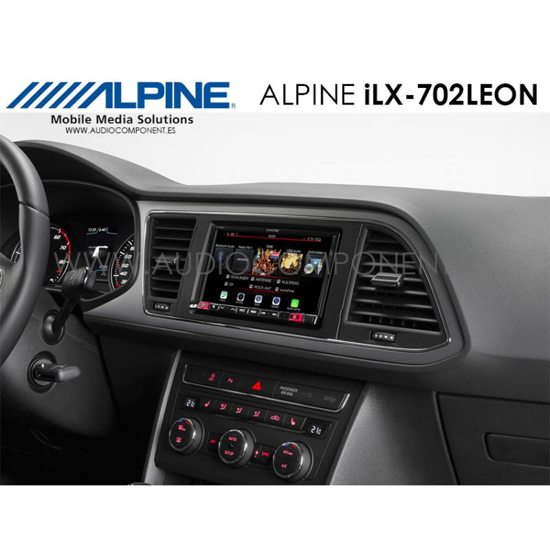 alpine ilx 702leon navegador gps seat le n carplay y. Black Bedroom Furniture Sets. Home Design Ideas