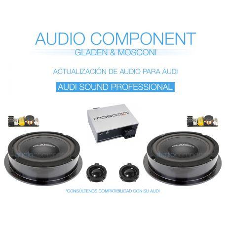 Audio Component AUDI A4 SOUND PROFESSIONAL. Actualización de audio para Audi A4: Gladen Audio & Mosconi