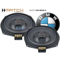 MATCH MW 8BMW-D - Subwoofers debajo asientos BMW