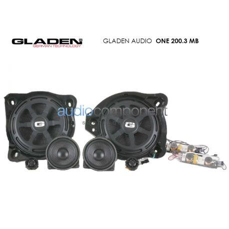 Gladen Audio ONE 200.3 MB - Altavoces para coche Mercedes