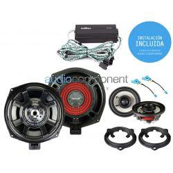 Instalación de kit de sistema de sonido para coche BMW - EMPHASER UPGRADE Audio Component BMW DSP (4)