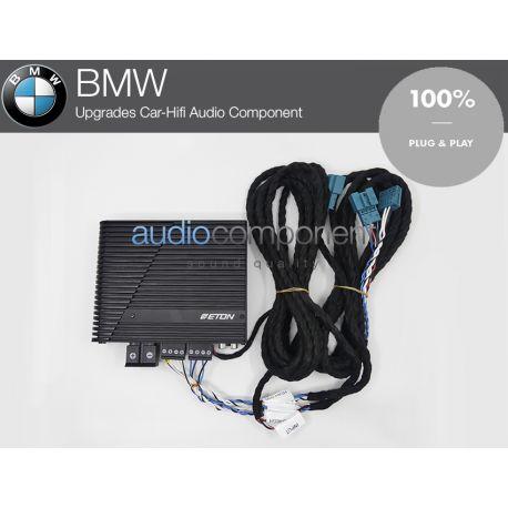Amplificador BMW ETON Mini 150.4 para mejorar el sonido de los altavoces