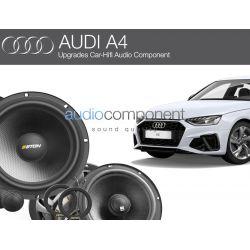 Equipo de musica para Audi A4 - Altavoces delanteros, altavoces traseros, amplificador de 4 canales con DSP