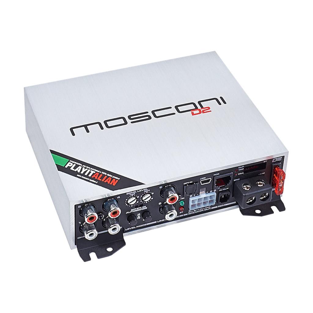 Amplificador con procesador avanzado DSP Mosconi fabricado en Italia